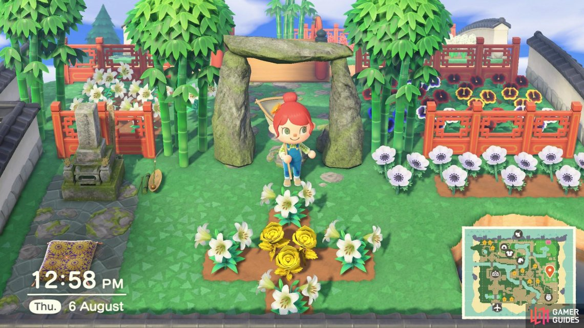 Having lots of flowers will earn you Nook Miles and they make your island look pretty, too!