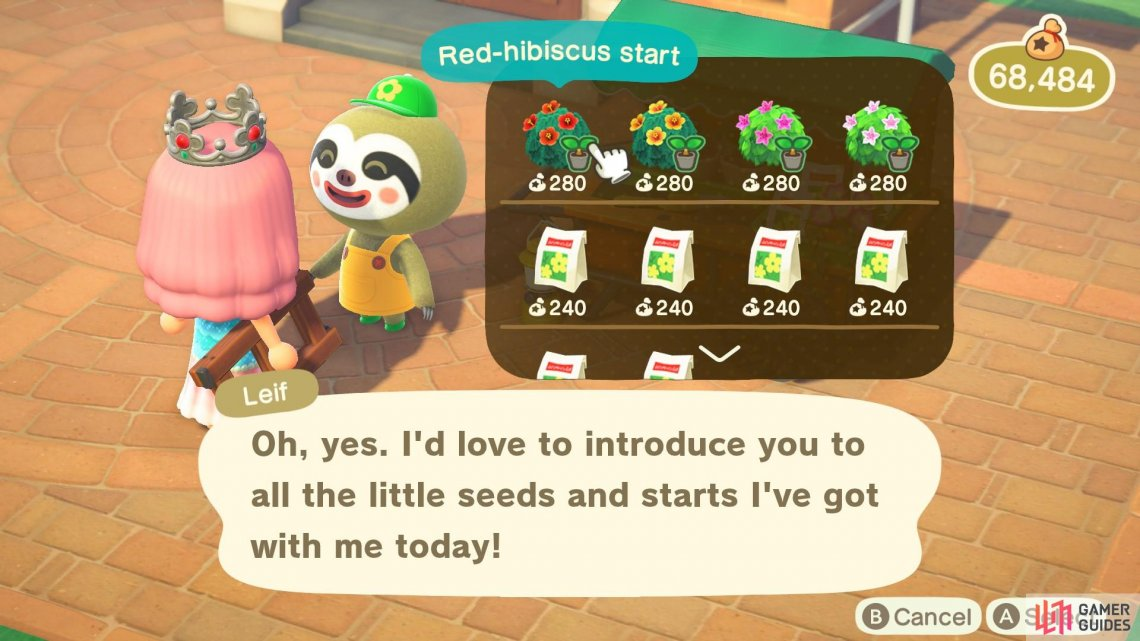 Leif sells shrubs and rare flower seeds.