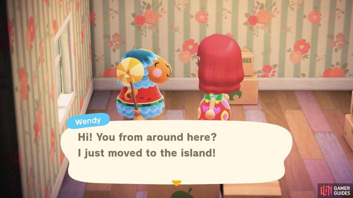 Wendy is the fourth villager to move to Seritown.