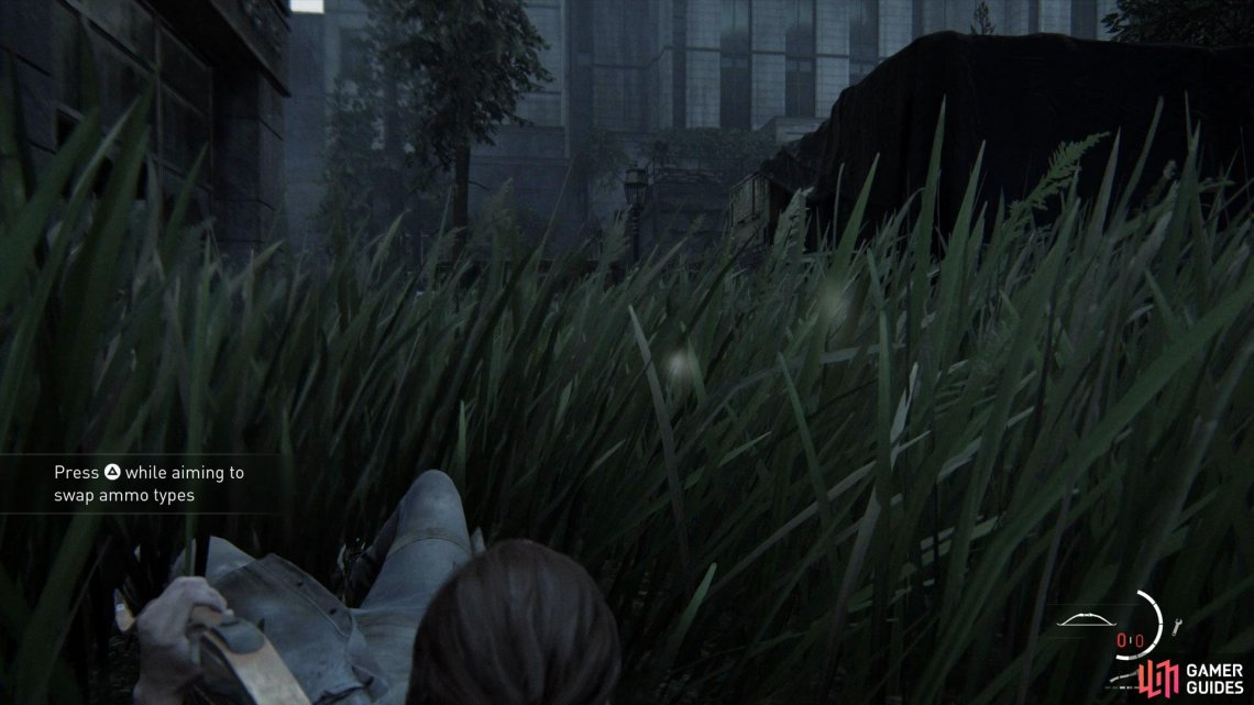 Crawl through the grass to take out the enemies