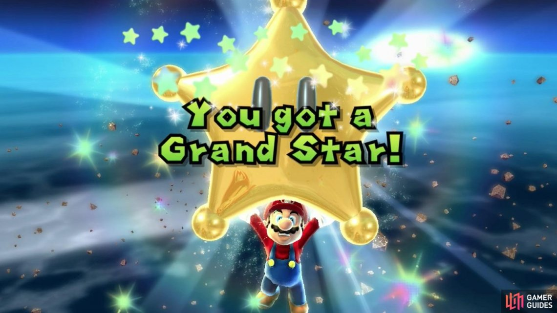Defeating Bowser Jr.'s Airship will reward you with a Grand Star