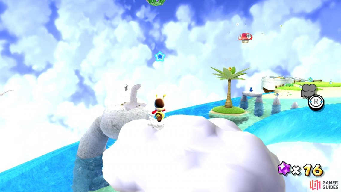 Bee Mario will be light enough to walk on clouds!