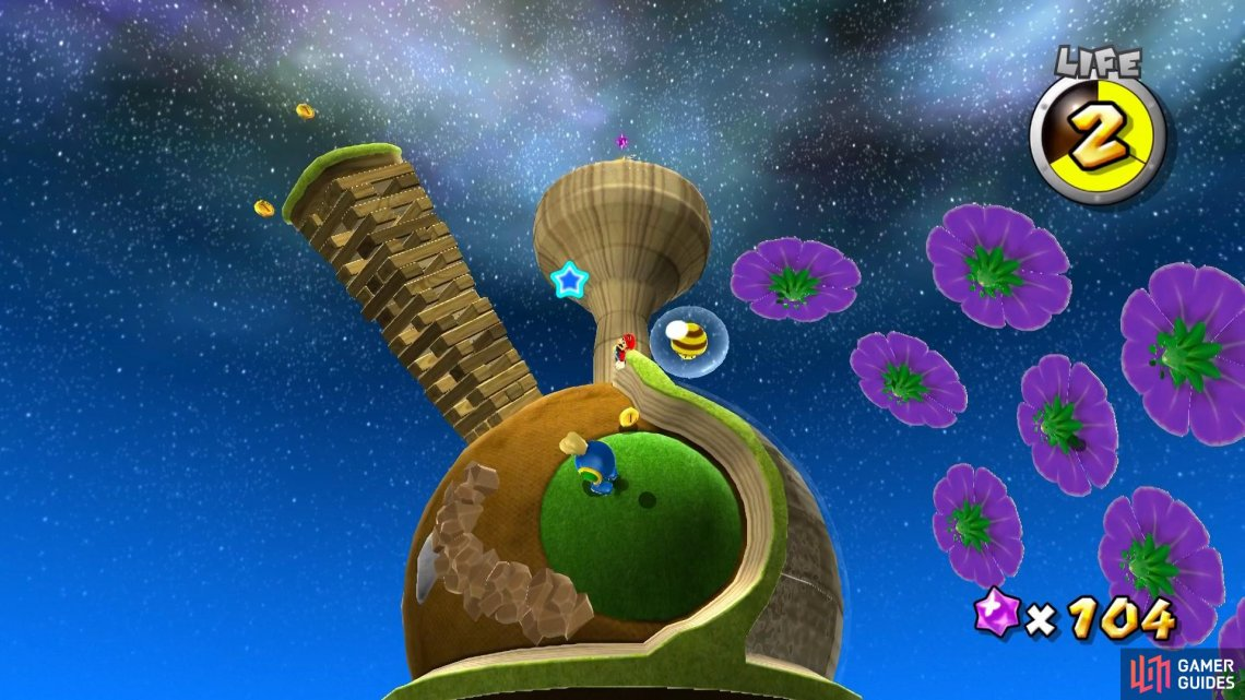Bee Mushrooms are available in each of the main levels in this galaxy.