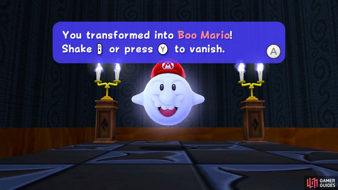 In Ghostly Galaxy, you'll be introduced to Boo Mario!