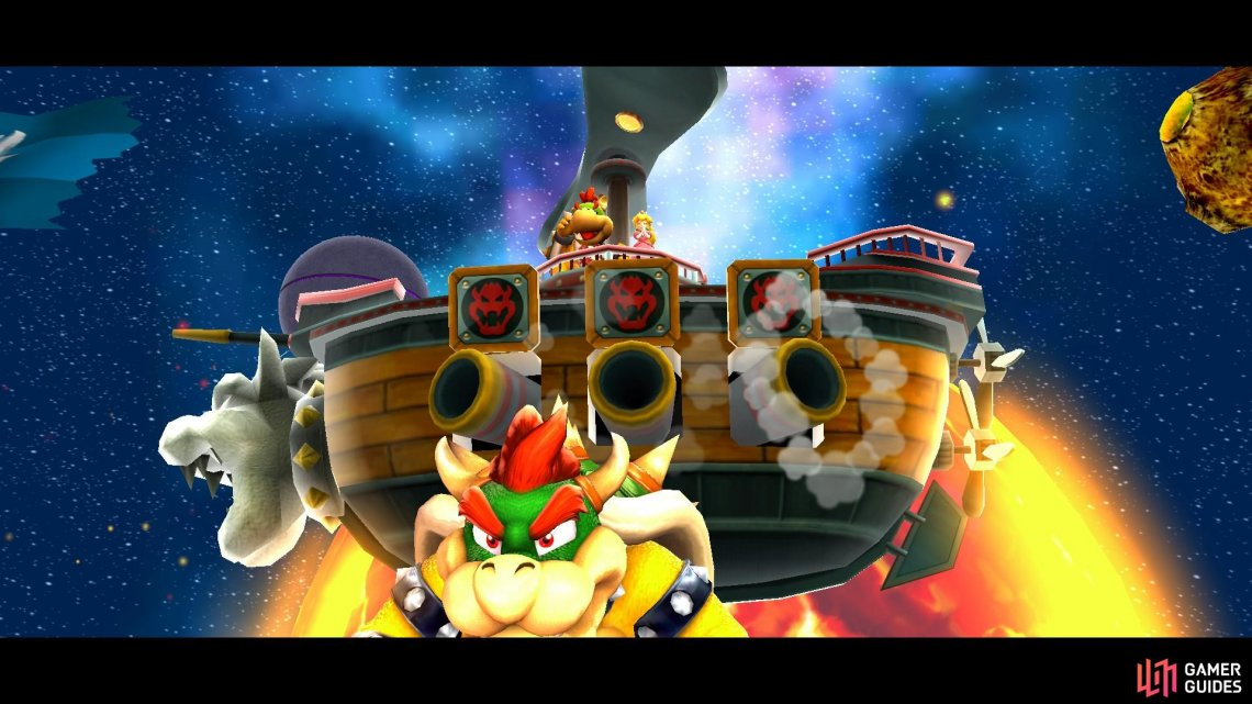 The Fate of the Universe is where you'll have your final fight with Bowser!