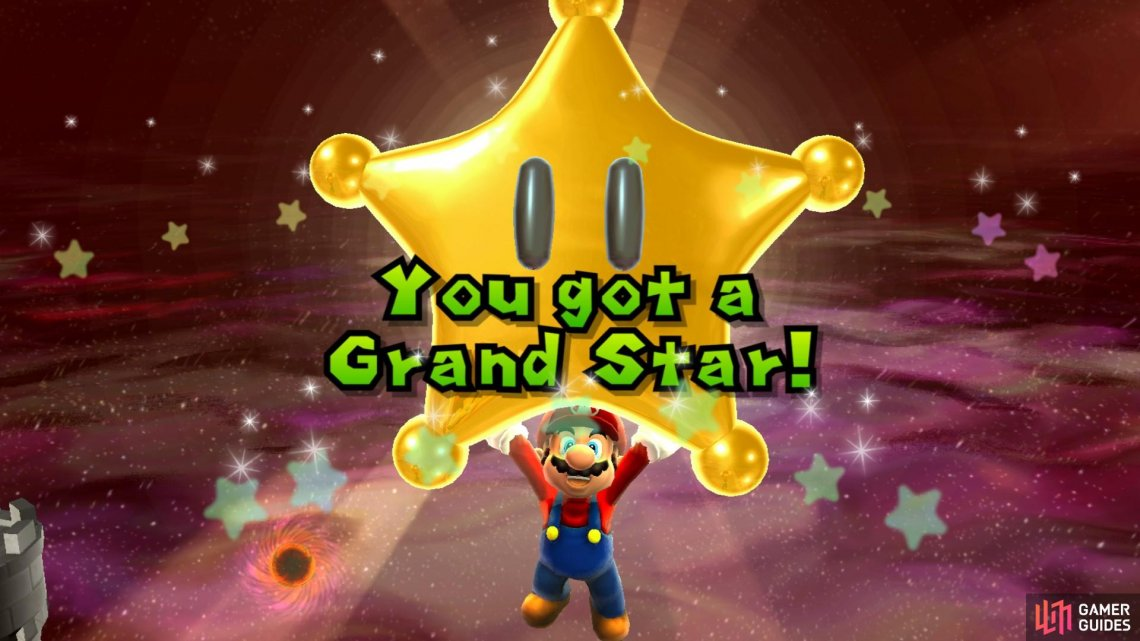 Defeat Bowser to earn a Grand Star!