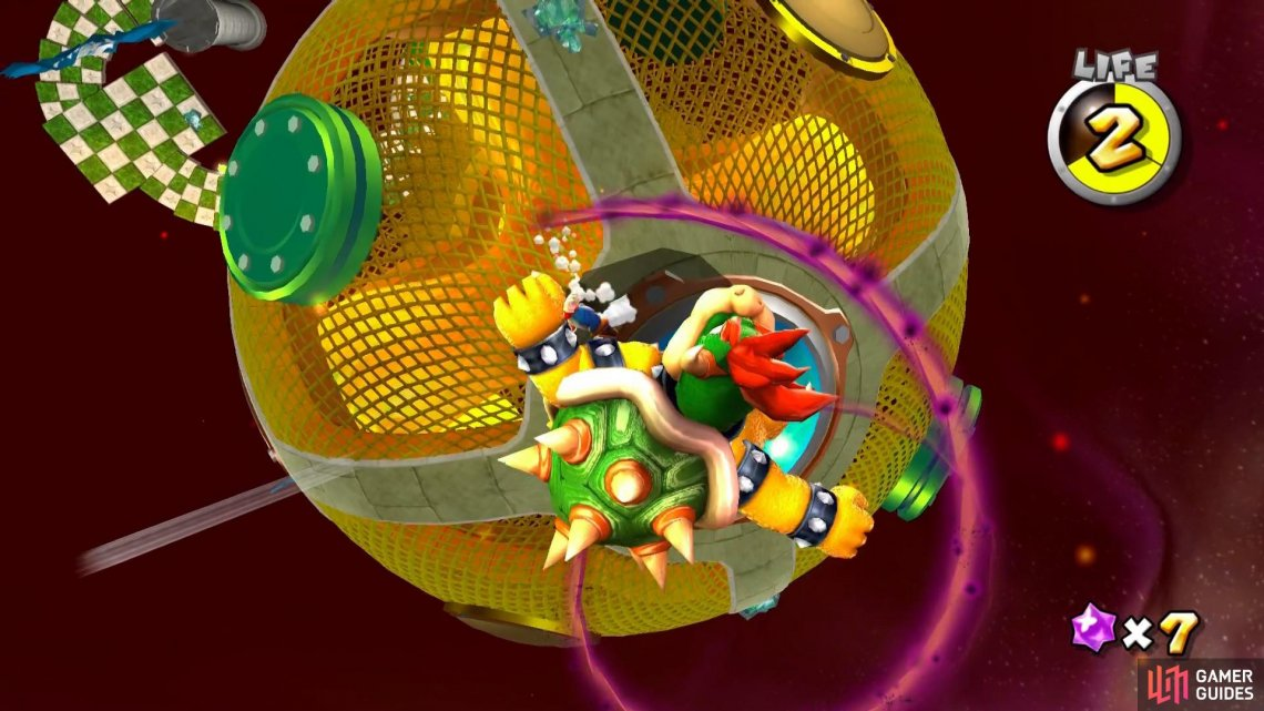 The Dark Spin attack is a new addition to Bowser's attack moves.