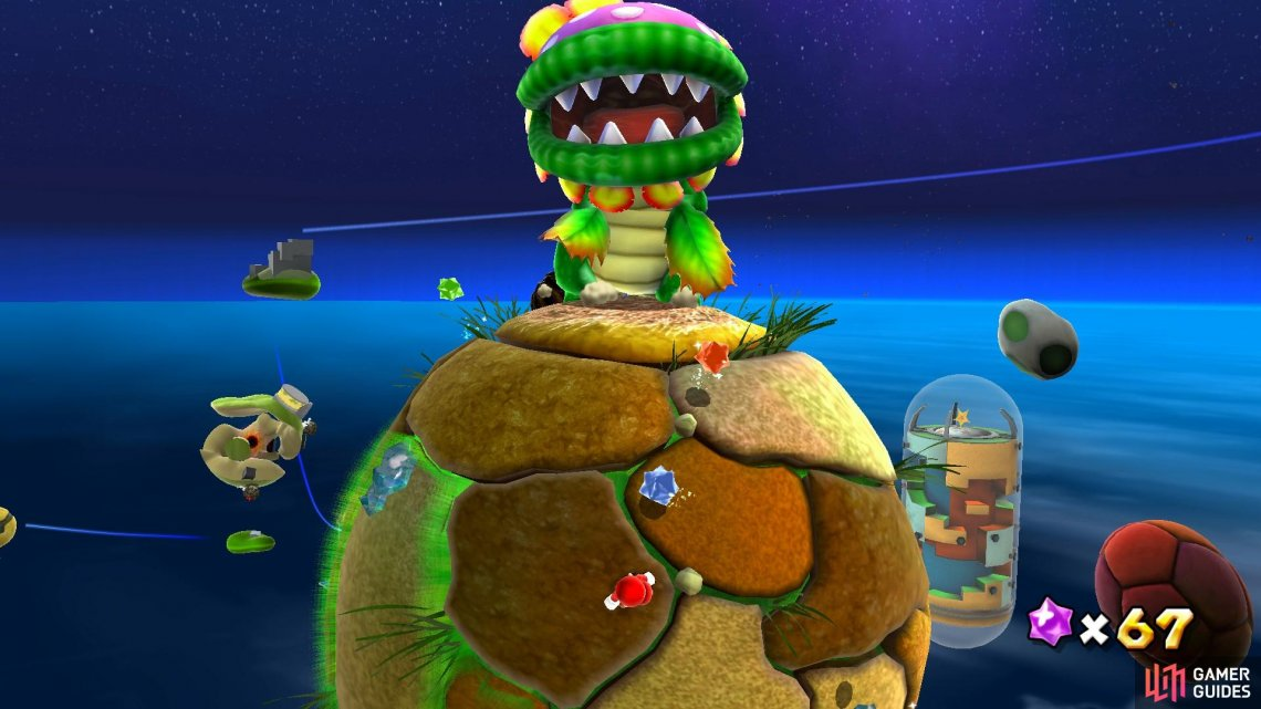 The Dino Piranha is the first boss you'll encounter in the game!