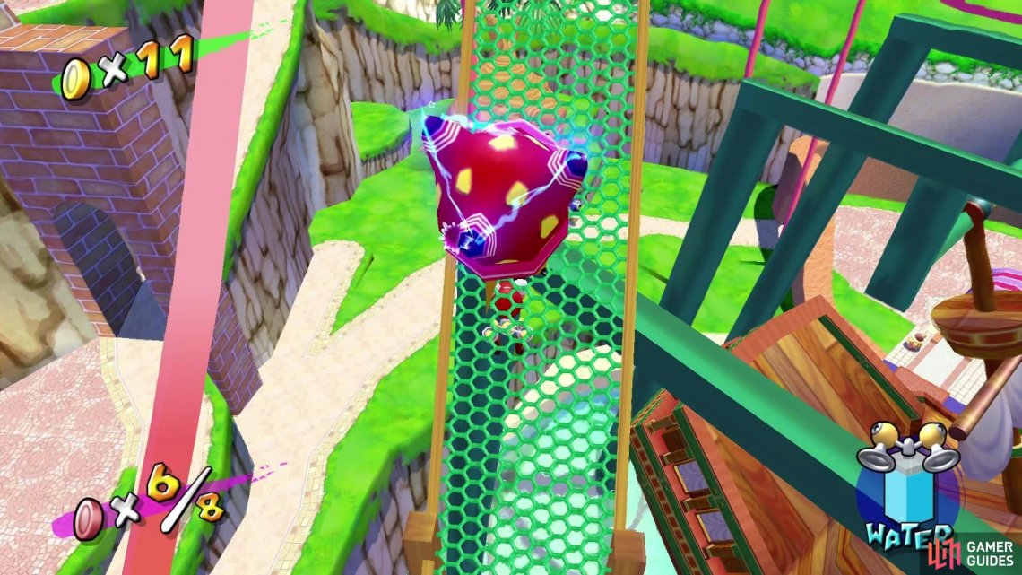 Get rid of the electrokoopas by bumping them off the paths, so they don't electrocute you!