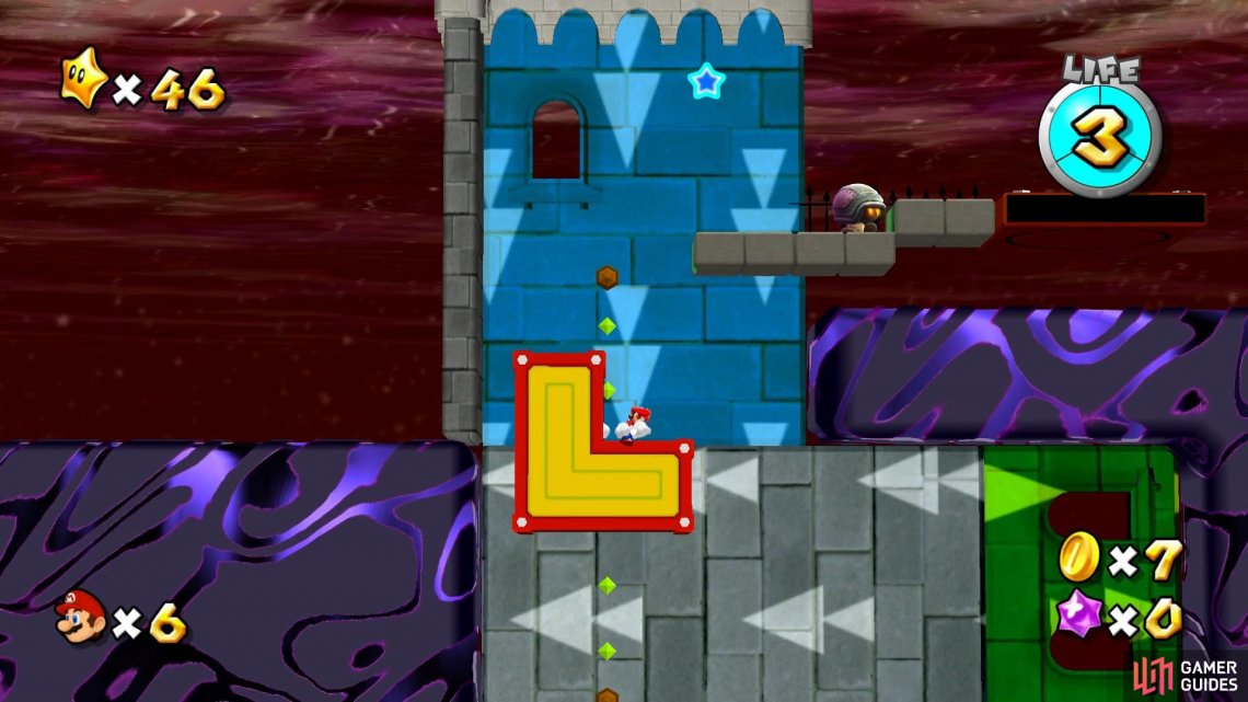The goombeetle will be awaiting you at the end of the gravity rooms.