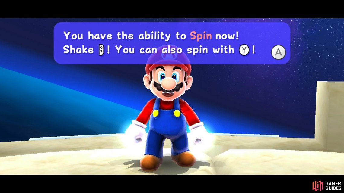 You won't have spin jump unlocked during the initial scene in Toad Town.