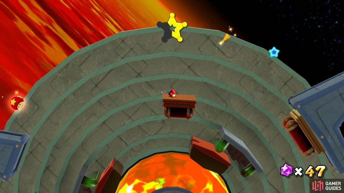 You'll need to use the moving platforms to reach all of the Star Chips.