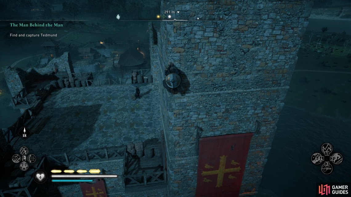 You'll find Tedmund at the top of the keep.