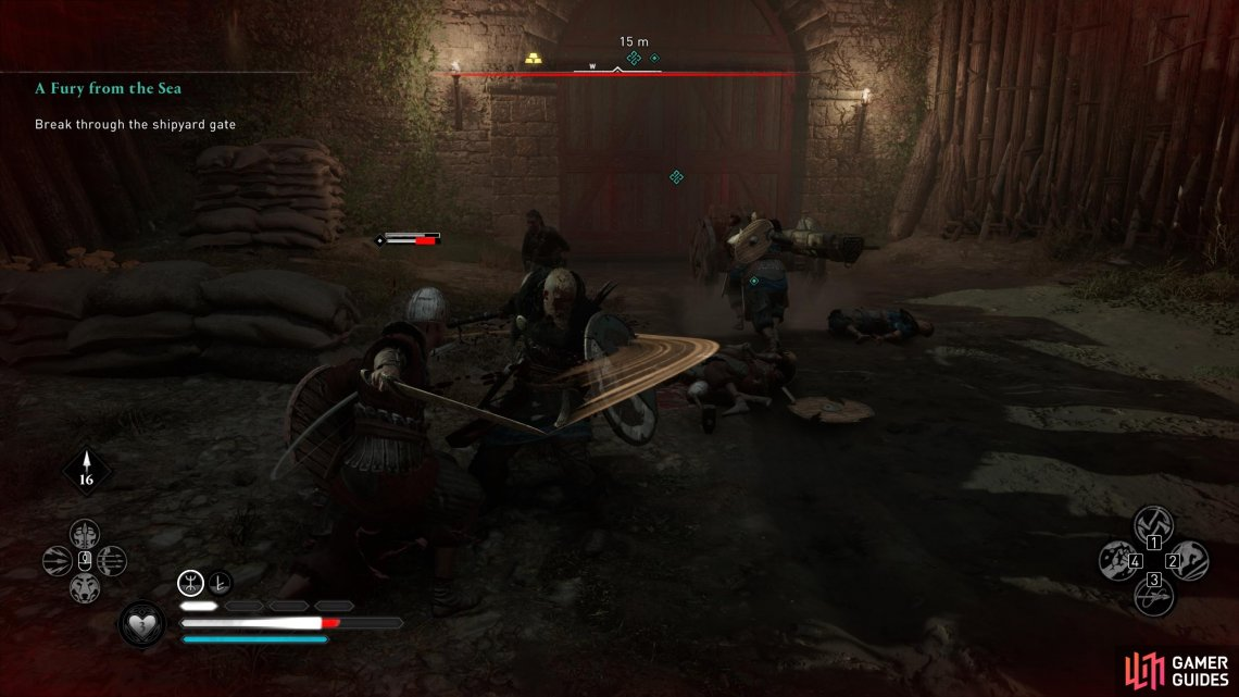 You'll need to kill any melee units which approach the battering ram.