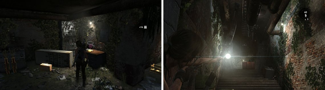 Collect the document at the back of the room before entering the hall, quickly shooting the explosive barrel before it reaches Lara.
