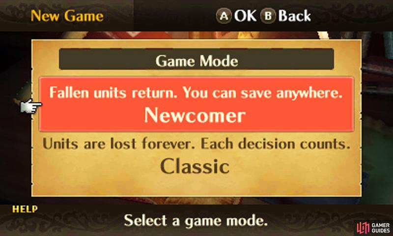 Newcomers to Fire Emblem should begin with Casual (aka Newcomer). If you enjoy being on the edge of your seat, pick Classic.