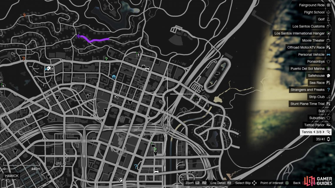 Head to this location on the map to find the Tornado parked outside the repair shop.