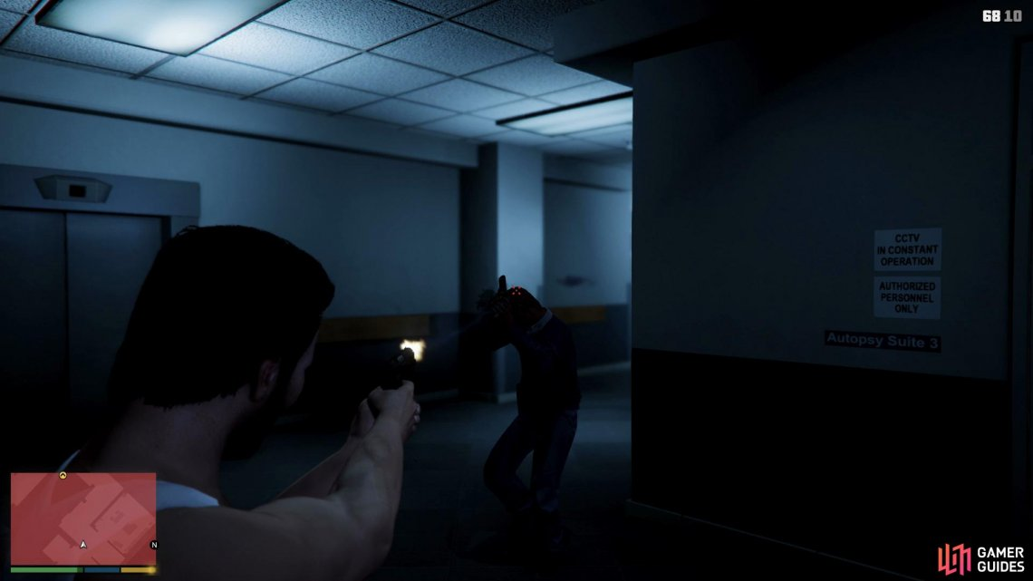 Use Michael's special ability to get easy headshots,