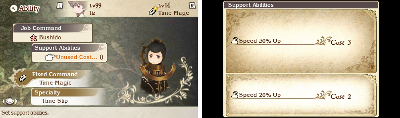 Time Mages aren't very speedy, so slap on a pair of Hermes Shoes and anything that adds to your Speed.