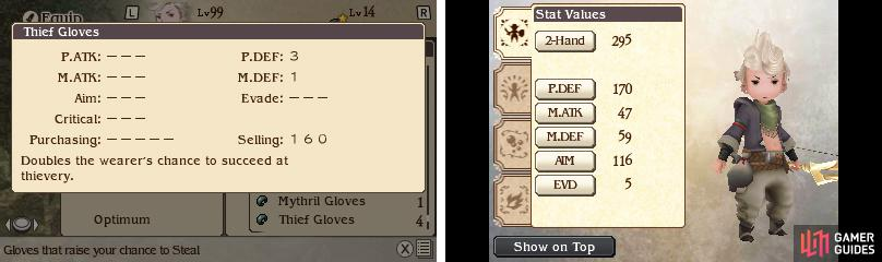 The Thief Glove's description is a bit misleading; it adds 25% to your steal rate.