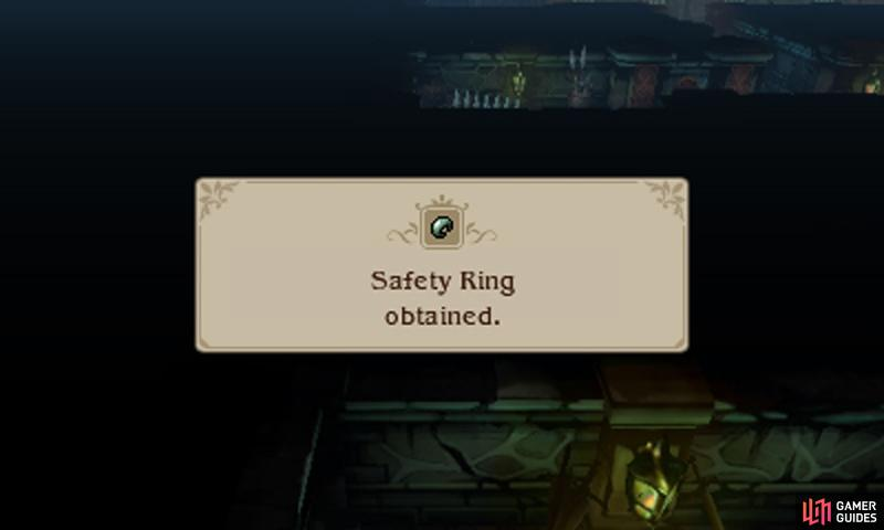The Safety Ring protects against instant-death attacks, not actual death. So it doesn't quite make your character invincible, but it's still awesome!