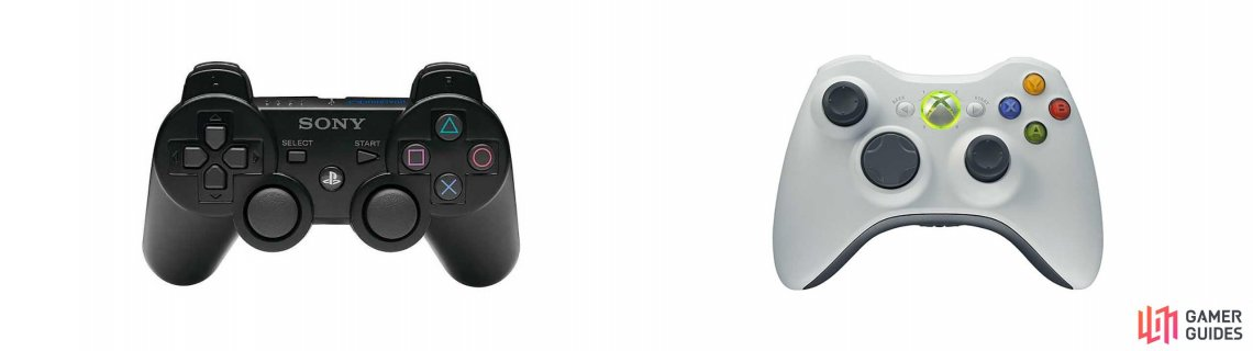 PS3 and Xbox 360 Controls