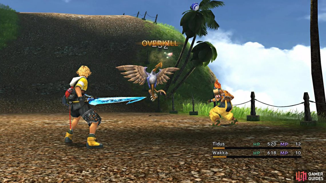 Wakka is excellent against flying enemies