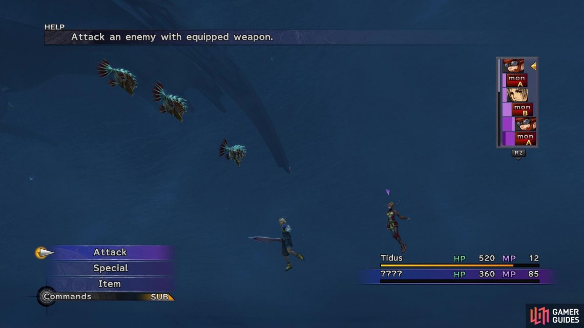 You can get into random encounters with Piranhas while swimming down to the ruins