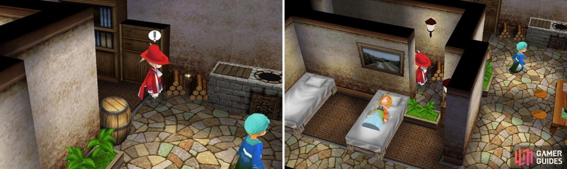 The two items are both hidden, and are connected by a dark passage.