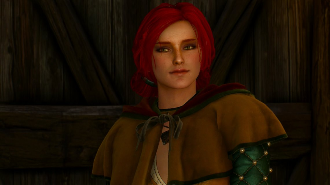 You'll reunite with Triss at the Putrid Square.
