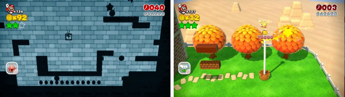 Grab the final Star from the right (left) and then enter the mystery box to reach the Goal Pole.