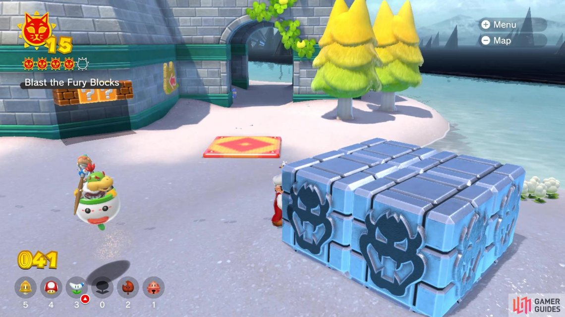 The location of the Fury Blocks on Fort Flaptrap