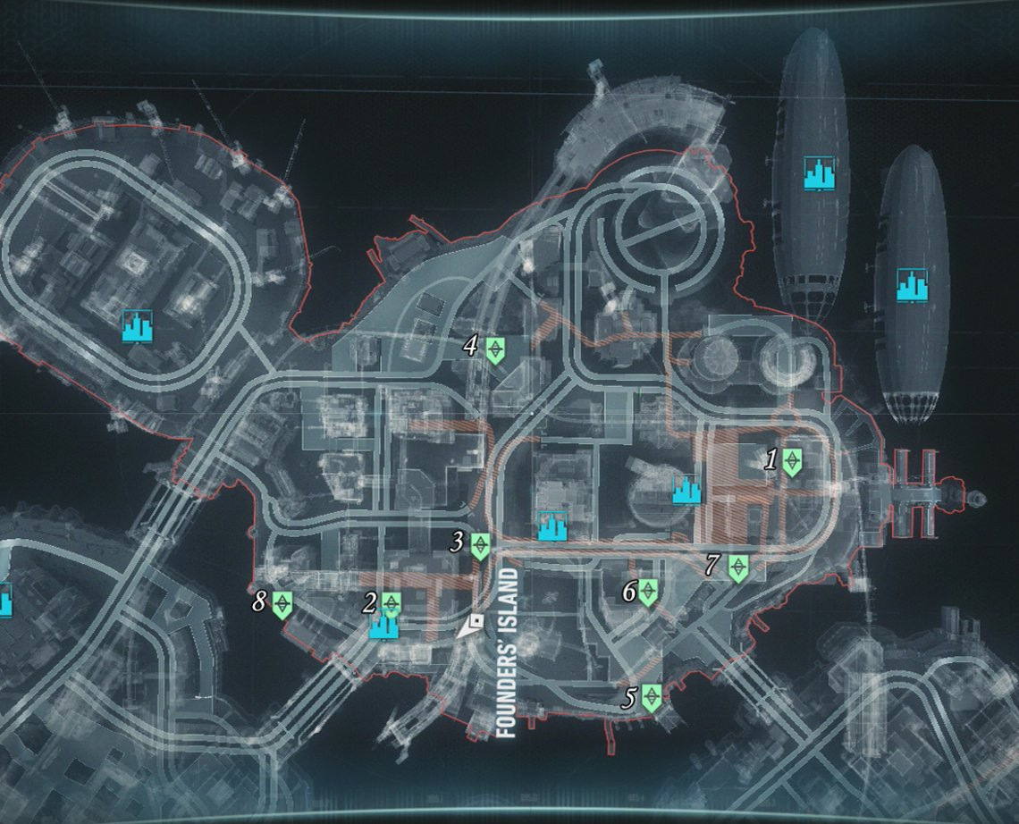 Part 3 Founders Island Roadblock Locations Own The Roads Most Wanted Mission Walkthroughs Batman Arkham Knight Gamer Guides