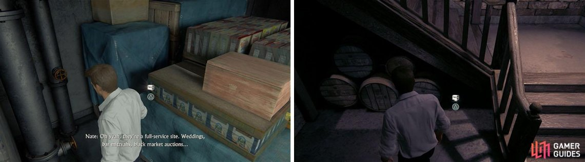 There are two treasures close together in the storage area, so don't miss them.