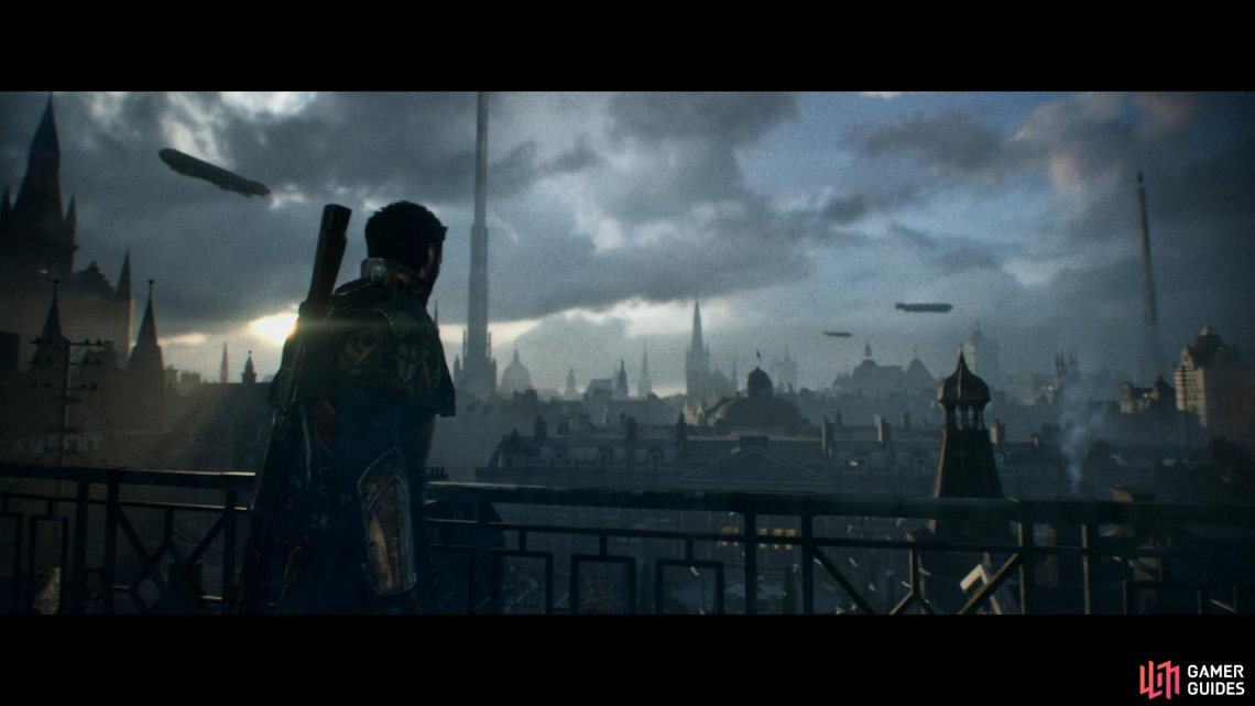 An overview of London in 1886 with the main character Galahad.