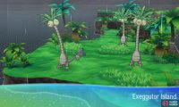 This island is shaped like an Exeggutor, and is also home to Exeggutor.
