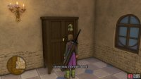 then search the wardrobe in the Church for a Traveller's Hood which will alter the Hero's appearance.