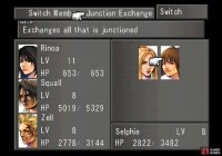 Pick the Exchange Junction command to move all junctioned GFs, magic and abilities between characters