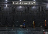 In various cells you can find items in boxes, the best of which being a Strength Up