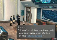 "Talk to Quistis and she'll direct you to your ""study panel"""