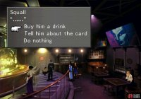 Give him the alcohol he wants or give his card back to compel him to move.