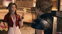 While wandering through the streets of Midgar, you'll meet Aerith.