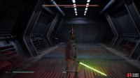 Use Force Slow and keep circling the Droid to get a few attacks in from behind
