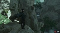 then use your grappling hook at the end of the path to rappel down