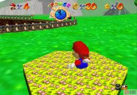 This flower patch can be used as a teleport to get across the course