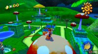 Hop up onto the fruit tree, then onto the toadstool nearby to get Yoshi to eat all of the blue butterflies and spawn in Blue Coin #19.