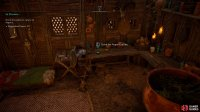 Drink the potion in Valka's hut to travel back to Asgard.