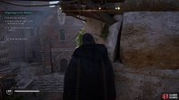 You can shoot the window above the main door of the monastery to enter undetected.