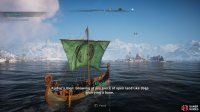 When you see the island of Ikke en Oy, lower the sail and approach it to trigger a raid.