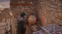 and if you break the pot on the platform you'll be able to collect a Roman Artifact.